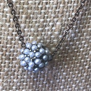 Chloe + Isabel Jewelry - Pearl Ball Sliding Pendant necklace